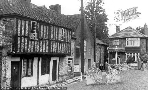 Brading, Old Cottages c.1955