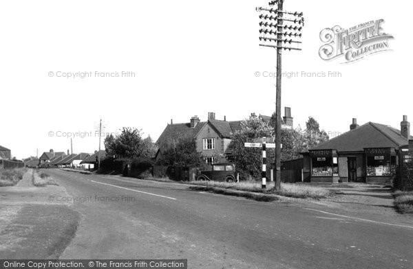 Bradwell, Beccles Road c.1955