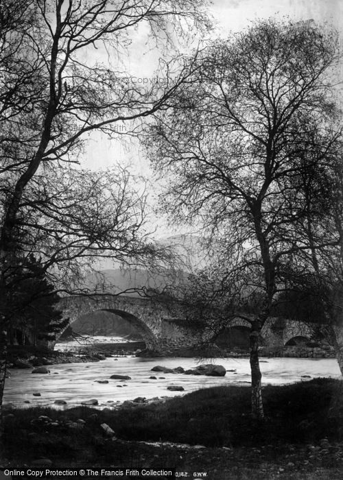 Photo of Braemar, Old Invercauld Bridge c.1880