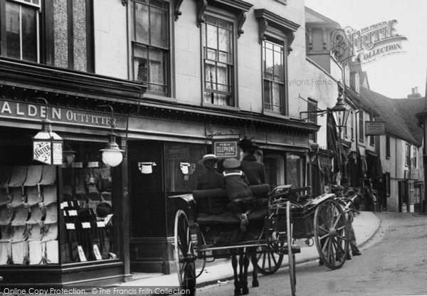 Braintree, Carts In Bank Street 1903