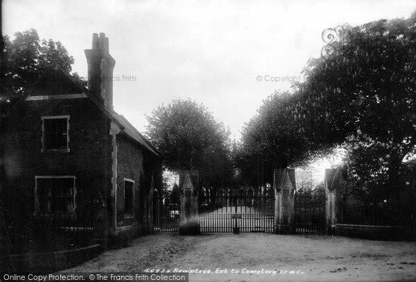 Braintree, Entrance To Cemetery 1901