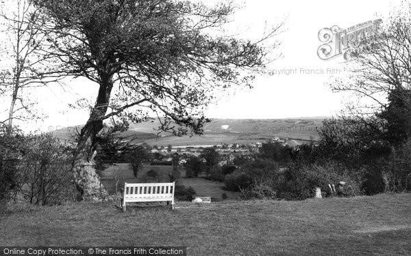 Bramber, Looking East From The Castle c.1955