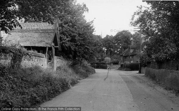 Bramerton, The Lychgate And Street c.1955