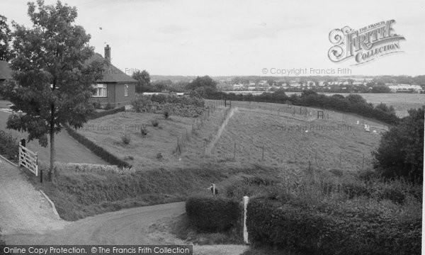 Bramerton, View From Woods End Hill c.1955
