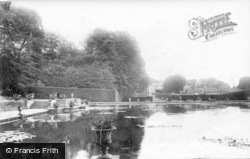 Bramham, Park, Obelisk Pond And House 1909