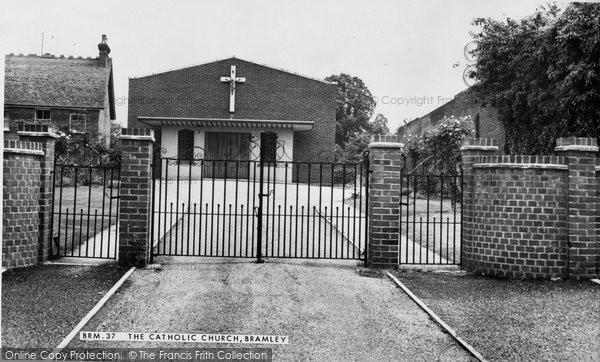 Bramley, Catholic Church c.1955
