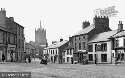 Brampton, Market Place And St Martin's Church c.1955