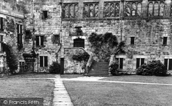 Brampton, The Courtyard, Naworth Castle c.1955