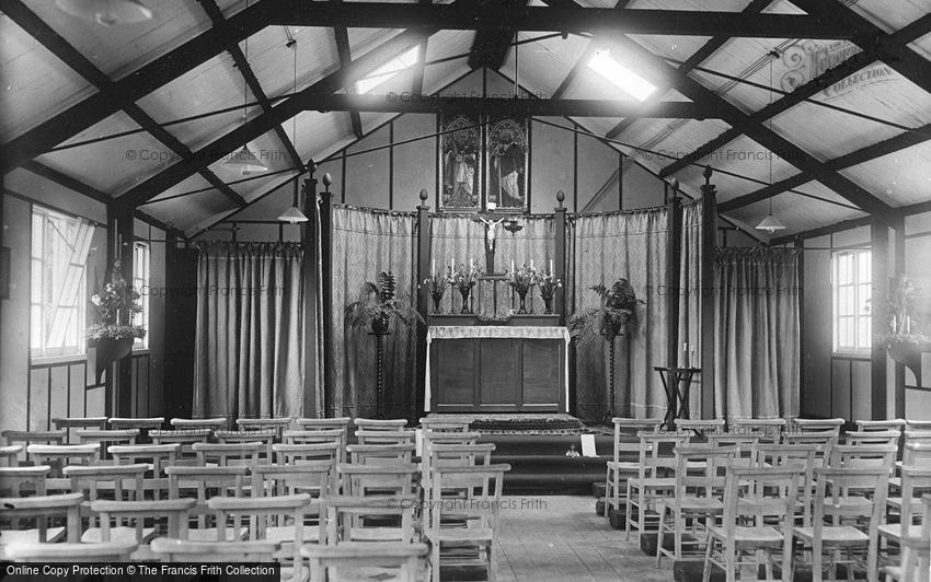 Bramshott, Camp, the Catholic Church interior 1917