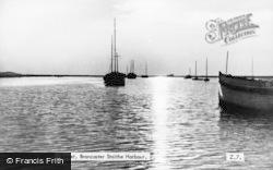 Brancaster Staithe, Harbour, Sunset c.1955