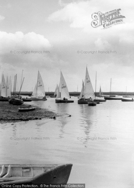 Brancaster, The Harbour c.1950