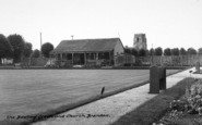 Brandon, The Bowling Green And Church c.1955
