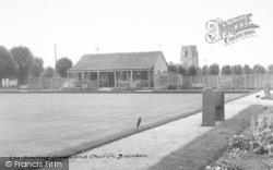 The Bowling Green And Church c.1955, Brandon