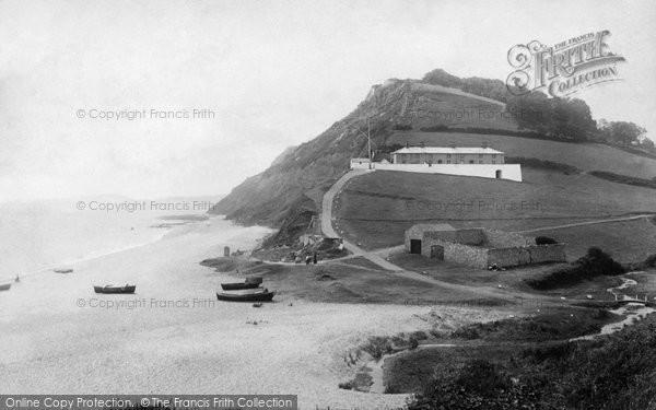 Photo of Branscombe, Beach 1898