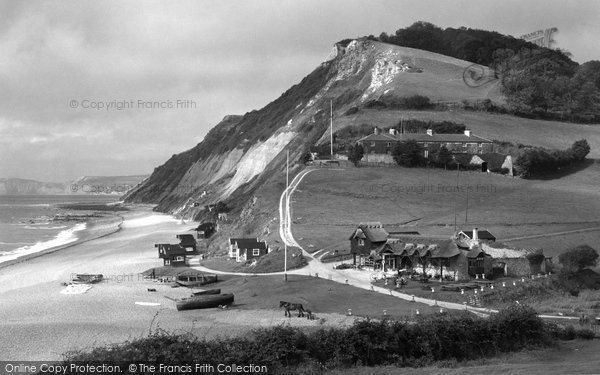 Photo of Branscombe, Cliffs And Beach c.1950