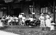 Branscombe, People At Beach Cafe c.1955