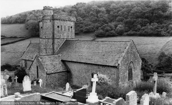 Photo of Branscombe, St Winifred's Church c.1960