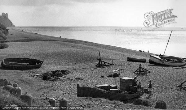 Branscombe, The Beach c.1950