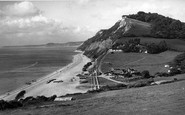 Branscombe, The Cliffs c.1950