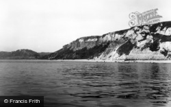 Branscombe, The Cliffs c.1960