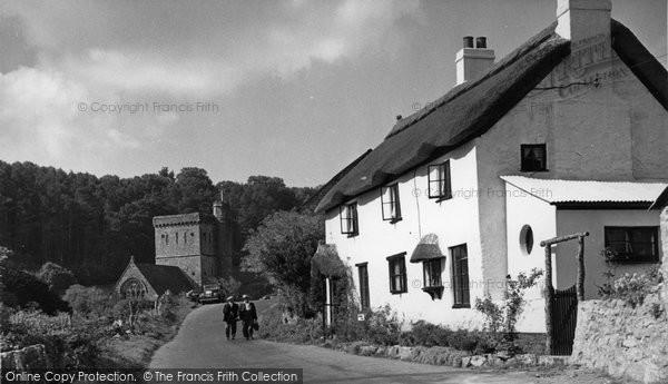 Photo of Branscombe, The Village c.1955