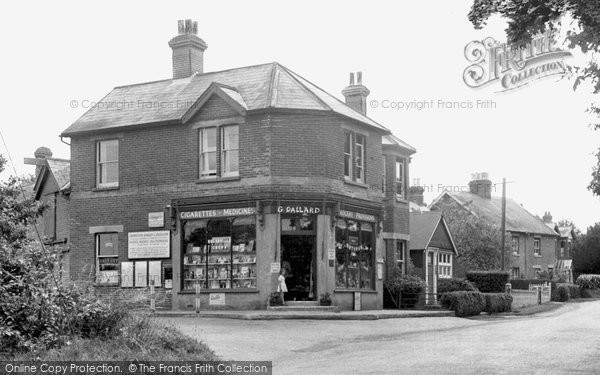 Bransgore, The Post Office c.1960