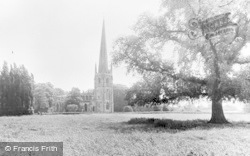 Brant Broughton, St Helen's Church And The Meadows c.1955