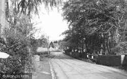 Brasted, A Village Lane c.1955