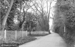Brasted, Rectory Lane c.1955