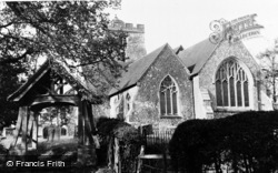 Brasted, St Martin's Church c.1955