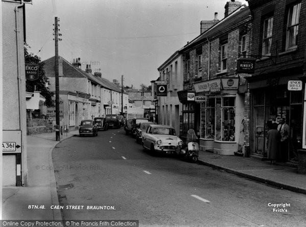 Braunton, Caen Street c1960