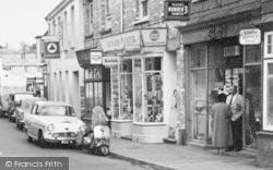 Shops In Caen Street c.1960, Braunton
