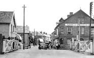 Braunton, the Level Crossing and Caen Street c1950