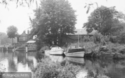 Bray, Boats Near The Lock c.1960