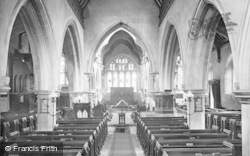 Bray, St Michael's Church Interior 1911