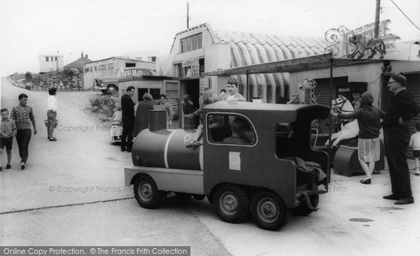 Brean, Miniature Train, Sunnyholt Caravan Park c.1965