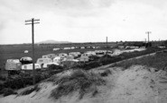 Brean, Sunnyside Caravan Site c.1955
