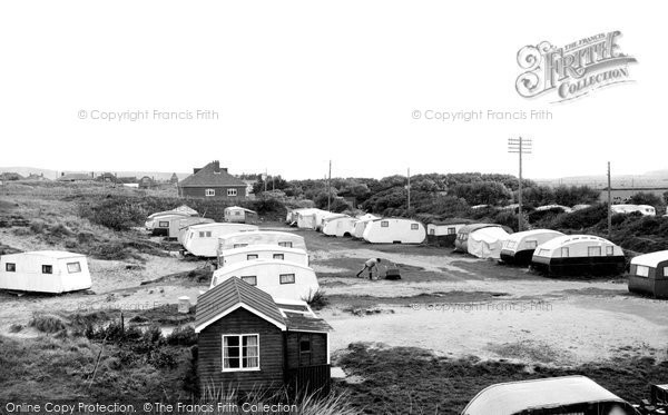 Brean, The Caravan Camp c.1955