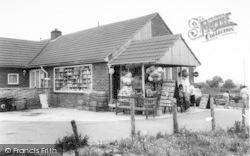 Brean, The Shop, Sunnyholt Caravan Park c.1965