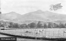 Brecon, Brecon Beacons From Hay Road c.1955