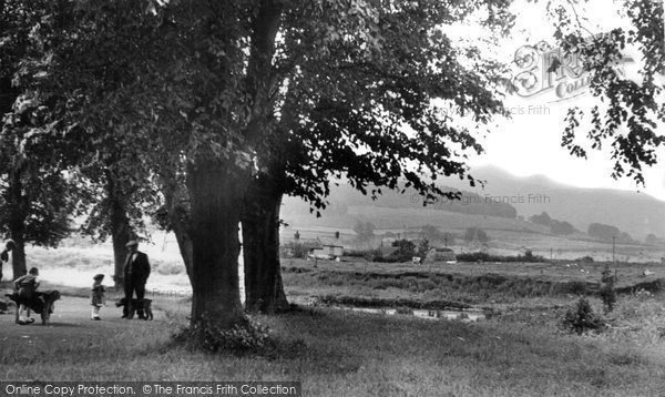 Brecon, By The River Usk c.1955