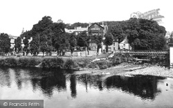 Brecon, Castle Hotel And River Promenade c.1940