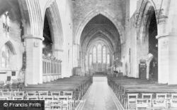 Brecon, Cathedral, The Nave c.1965
