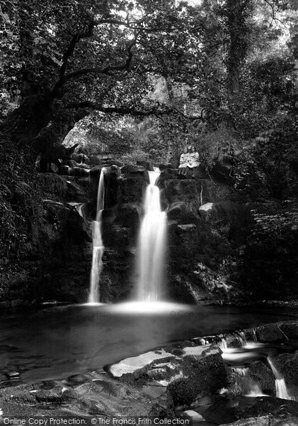 Brecon, Lower Ffrwdgrech Waterfalls 1910