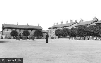 Brecon, the Brecon Barracks c1960