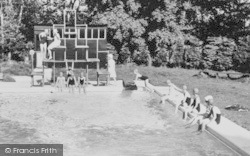 Bredenbury, Court, Girls, The Swimming Pool c.1960