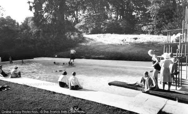 Bredenbury, Court, Swimming Pool c1960