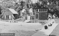 Bredenbury, Court, Swimming Pool Diving Board c.1960