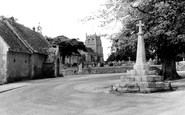 Bremhill, the Cross, Church and School c1960