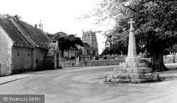 Bremhill, The Cross, St Martin's Church And School c.1960